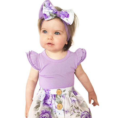 ARINLA Newborn baby infant baby girls frills sleeve romper costumes clot -