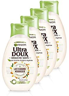 Garnier Ultra Doux ducha cuidado leche de almendra nourricier/Savia de Agave Bio 250 ml