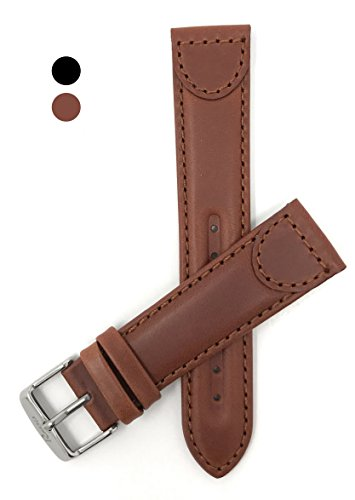 12mm, Sports, Light Brown Genuine Leather Watch Band Strap, Tone-on-Tone Stitching, Comes in Light Brown or Black, Perfect Replacement Band for certain Swiss Army, Wenger and Victorianox Watch Models - Band Swiss