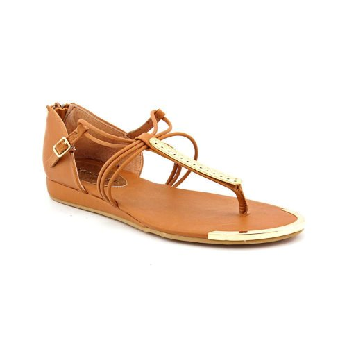Rampage Saphire Womens Size 9 Brown Open Toe Faux Leather Thongs Sandals Shoes