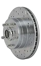 SSBC 23369AA3L Drilled Slotted Plated Front Driver Side Rotor for 1980-85 F250 2WD Dual Piston Caliper