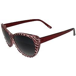 Raised Zebra Pattern On Cat Eye Framed Sunglasses!
