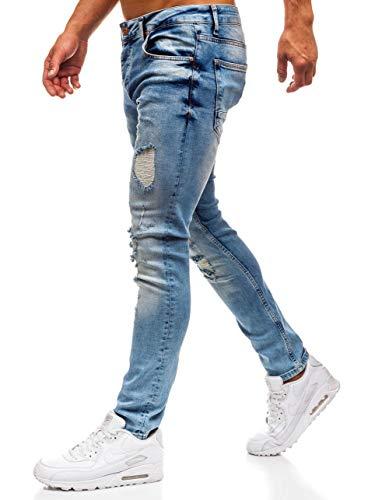 Vaquero Hombre BOLF 6F6 Azul Clubwear Fit 1842 Pantalón Diario Slim Estilo dE6x6q