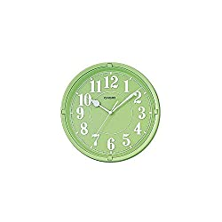 Casio Iq-62-3 Wall Clock with 10 Inches Thinline Quartz Light Green Dial Battery Included