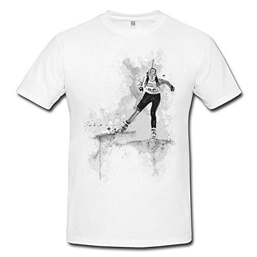 Biathlon II T-Shirt Herren, Men mit stylischen Motiv von Paul Sinus