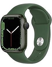 Apple Watch Series7 (GPS, 41mm) - Green Aluminium Case with Clover Sport Band - Regular