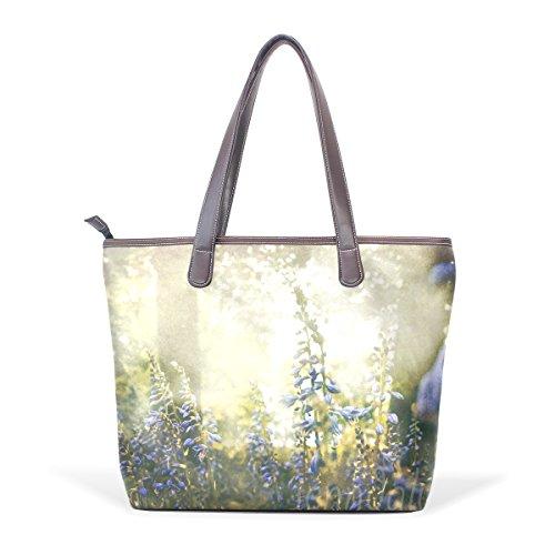 Coosun Womens Natura Foggy Woodland Decor In Pelle Pu Grande Borsa Shopping Bag A Tracolla