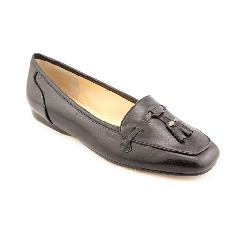 Enzo Angiolini Womens Love Vine Leather Loafer Shoe Black Leather xHnRCQY