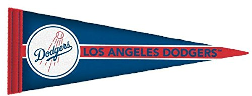 FATHEAD Los Angeles Dodgers Team Pennant Logo Official MLB Vinyl Wall Graphic 23''x8'' INCH by FATHEAD