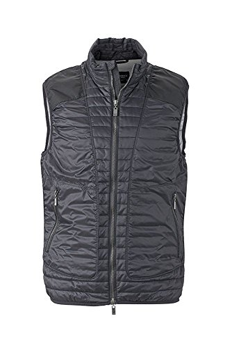 Lightweight Men's Gilet Moda Trapuntato Black Vest Alla Dettagli Con silver YTTCwqZ