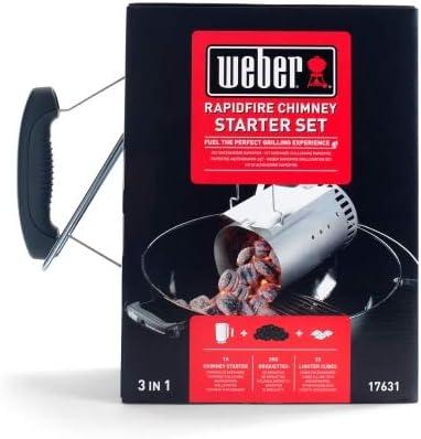 Weber Kit Cheminée d'Allumage, Argent/Noir