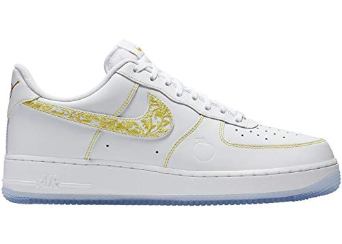 Desert Leather Footwear - Nike Men's Air Force 1 LV8 White/Metallic Vivid Gold/Desert Leather Casual Shoes 10.5 M US