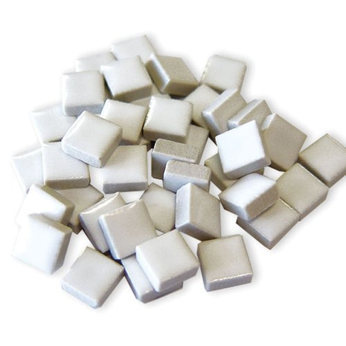 Jennifer's Mosaics 1-Pound 3/8-Inch Deco Ceramic Mosaic Tile, White