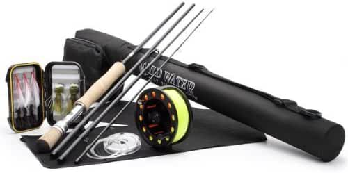 DELUXE Wild Water Fly Fishing Complete AX910-090-4 Starter Package (Freshwater Fly Assortment)
