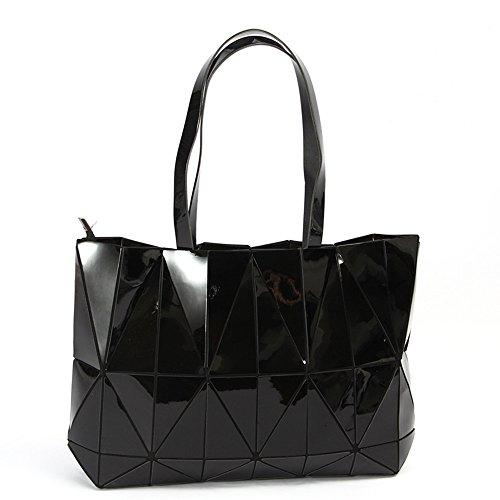 KAISIBO Unique Design Geometric Lattice Handbag Totes Purses for Women(K3138BK) by KAISIBO