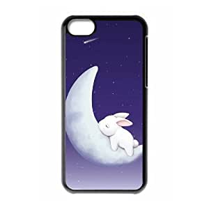 DIY Phone Case for Iphone 5C, Moon Bunny Cover Case -R687441