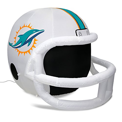 NFL Miami Dolphins Team Inflatable Lawn Helmet, White, One Size