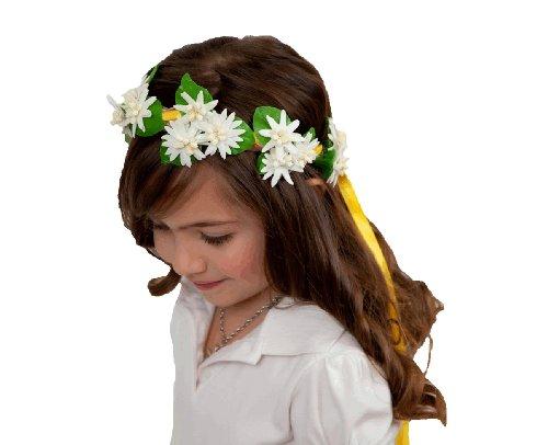 Essence Of Europe Gifts Girls' Garland Wedding Headband Edelweiss Flowers Small White