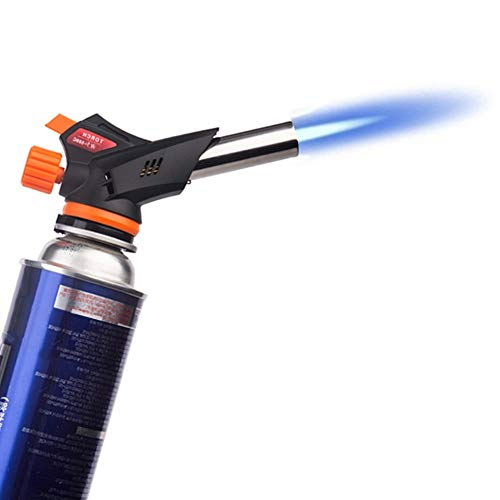 JUN-L Flame Gun Butane Burners Automatic Electronic Wind Proof Cooking Gas Torch for Pastries, Desserts, Crème Brûlée, Brazing, Soldering, Camping, Welding ()