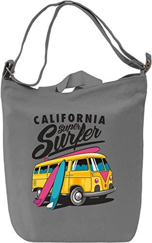 California super surfer Borsa Giornaliera Canvas Canvas Day Bag| 100% Premium Cotton Canvas| DTG Printing|