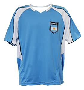 World Cup Soccer Argentina Home Performance Poly Shirts, Small, Light Blue