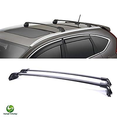 Saiyingli Technology 2pcs OE Style Black Aluminum Roof Rack Cross Bars Luggage Cargo Carrier Rails Fit 2012-2014 Honda CR-V