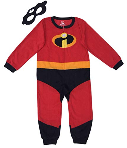 Disney Pixar Incredibles 2 Unisex Kids Union Suit Pajama with Mask (8)