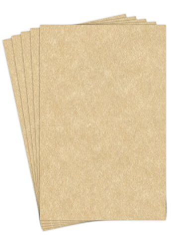 11 X 17 Stationery Parchment Recycled Paper 65lb. Cover Cardstock - 50 Sheets Per Pack (Aged)
