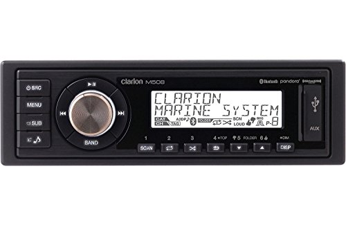 Tower Digital Lcd Line - Clarion M508 Marine AM/FM digital media receiver with Bluetooth and USB/AUX/MP3