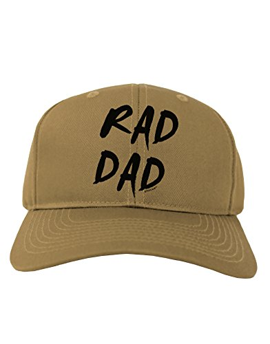 TooLoud Rad Dad Design Adult Baseball Cap Hat - Khaki (80s Outfits For Sale)