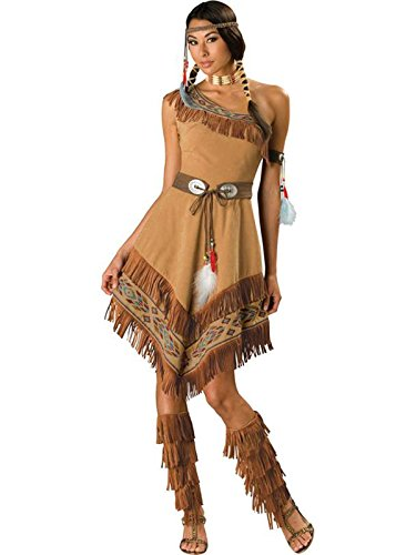 [InCharacter Costumes, LLC Women's Indian Maiden Costume, Brown, Small] (Pocahontas Costumes)