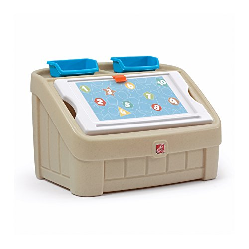 (Step2 2-in-1 Toy Box and Art Lid, Tan )
