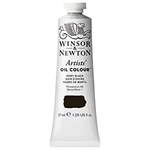 Winsor & Newton Artists Oil Color Paint Tube, 37ml, Ivory Black