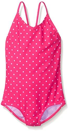 Kanu Surf Big Girls' Chloe One Piece Swimsuit, Pink, 12