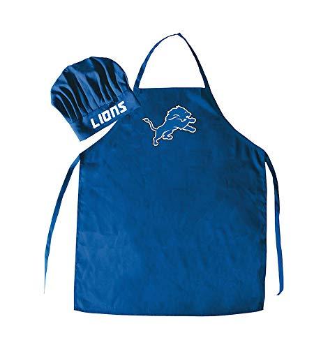 NFL Detroit Lions Chef Hat & Apron Set, Blue, One Size