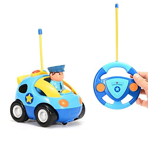 FunsLane-RC-Cartoon-Race-Car-Electric-Radio-Control-Police-Car-Remote-Control-Car-Toy-with-Music-and-Light-for-Kids-Toddlers