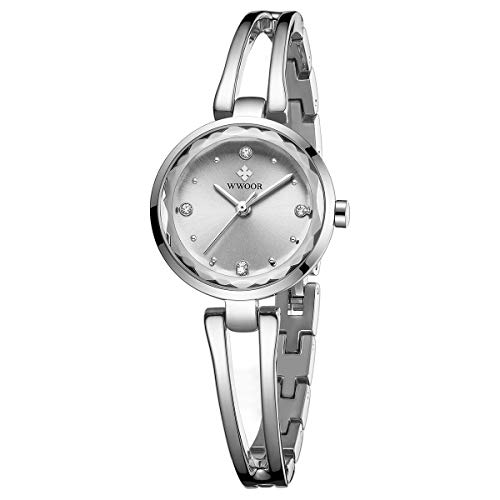 WWOOR Women's Watch Fashion Analog Quartz Watches with Stainless Steel Waterproof Wristwatch Casual Watch Dress Bracelet Gift Watch Ladies - Stainless Analog Bracelet