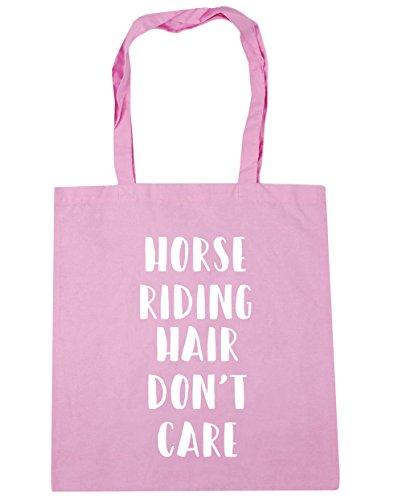 HippoWarehouse Don 't care de pelo de caballo bolsa de la compra bolsa de playa 42cm x38cm, 10litros Classic Pink