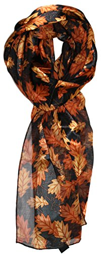 Ted and Jack - Fall Foliage Pattern Silk Feel Scarf (Tossed ()