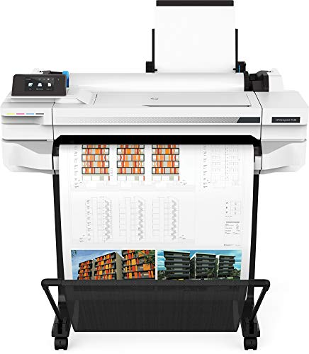 HP 24″ Large-Format Printer – Color – Ink-Jet – A1, ANSI D, Roll (24 in x 150 Ft) – 2400 x 1200 Dpi – Up to 0.5 Min/Page (Mono)/ Up to 0.5 Min/Page (Color) – USB 2.0, LAN, Wi-Fi