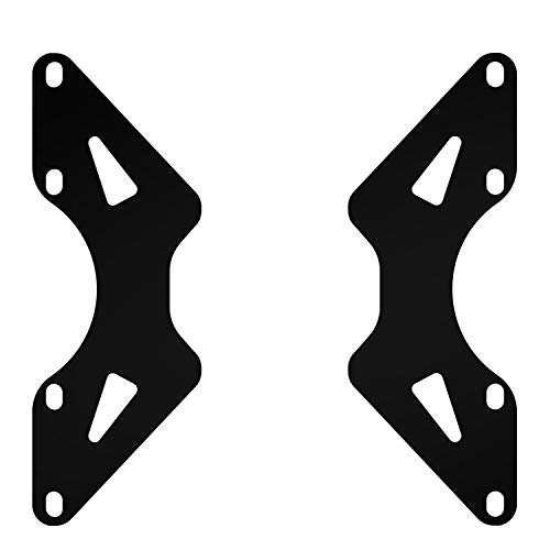 Universal VESA Adapter Extension Plate Bracket - VESA Mount from 100x100mm to 200x100mm, 200x200mm, VESA Extender for Computer Monitor Stands by HUANUO ()