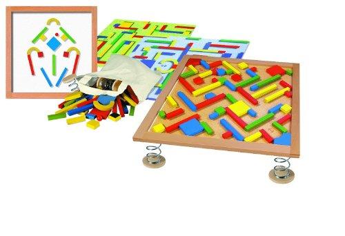 Labyrinth auf Federn - Training der Feinmotorik, Kugelbahn und Legespiel