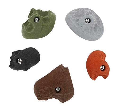 5 Limestone Roof Jugs Set #1 | Climbing Holds | Mixed Earth Tones by Atomik Climbing Holds