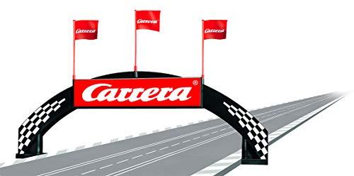 Carrera 21126 Deco Bridge Realistic Scenery Accessory for Slot Car Race Track Sets, Black