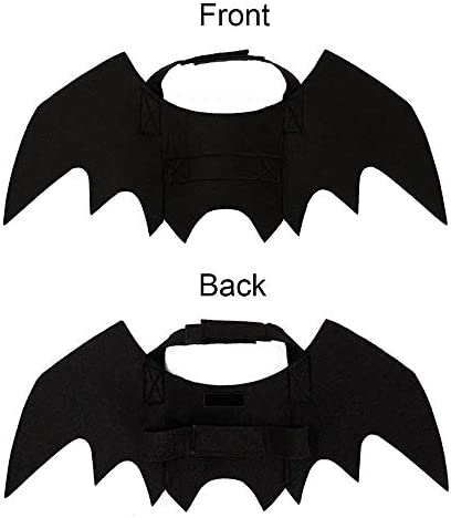 Malier Halloween Cat Costume for Cats Dogs Pet Bat Wings Cat Dog Bat Costume Wings (Small) 23