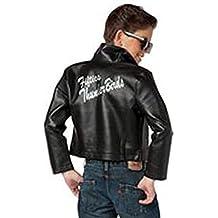 Charades Child's Fifties Thunder Bird Costume Jacket, Black, Large