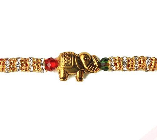 Asiatic Craft Rakhi For Brother Bhaiya Bhabhi Kids Designer Rakhi Special Rakhi Elephant Bracelet on Rakshabandhan Festival (Silver Bracelet For Baby Boy In India)