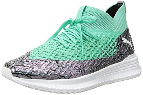 Footwear Cola (PUMA Men's Future Avid Netfit Soccer Shoe, Col Shift-Green-White-Black, 8 (M) US)