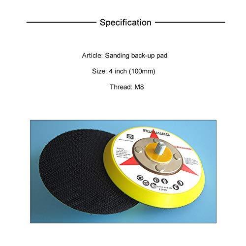 5//16-24 External Thread Pack of 2 3 Back-up Sanding Pad Hook and Loop