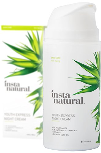 InstaNatural Night Cream - Anti Aging Face Lotion for Men & Women - Age & Deep Wrinkle Recovery Moisturizer for Healthy Skin - Rapid Repair Formula - Works on Eye Bags, Fine Lines & Puffiness - 3.4 OZ